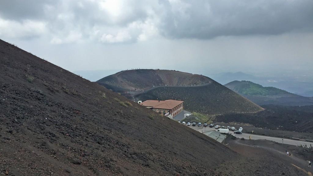 Krater på Entas sydside